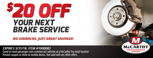 $20 Off Your Next Brake Service