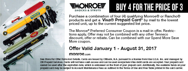 Monroe Buy 4 For The Price Of 3