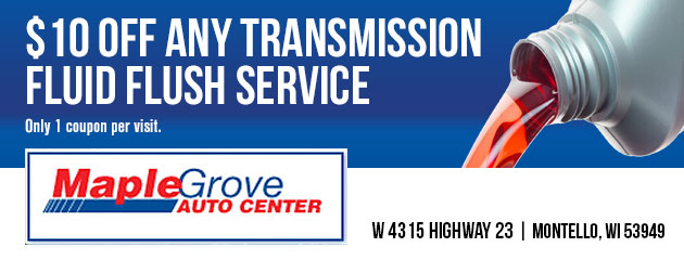 $10 off any transmission fluid flush service