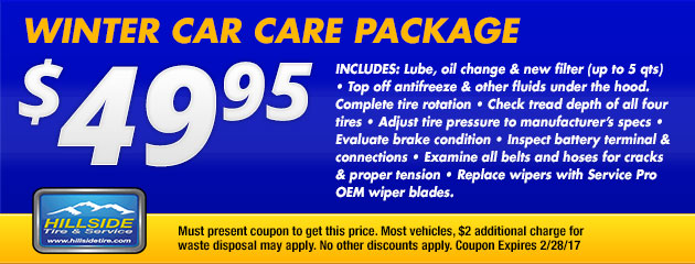 $49.95 Winter Car Care Package