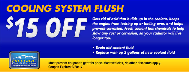 $150 Off Cooling System Flush