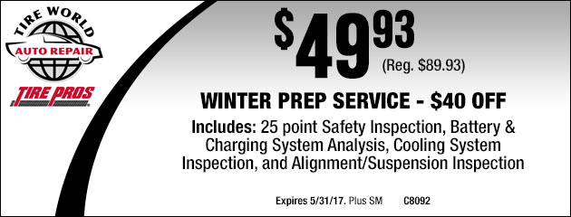 Winter Prep Service - $40 OFF