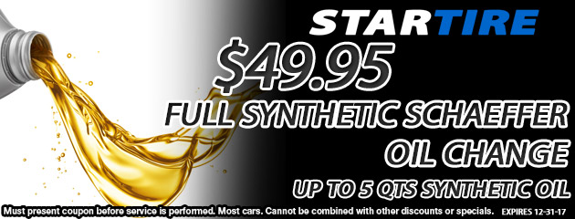 $49.95 Full Synthetic Oil