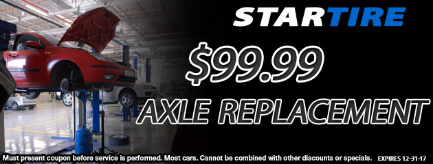 $99.99 Axle Replacement