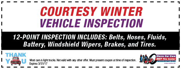 Free Courtesy Winter Inspection