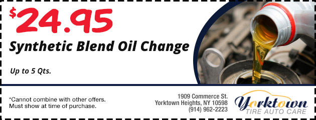 Synthetic Blend Oil change $24.95