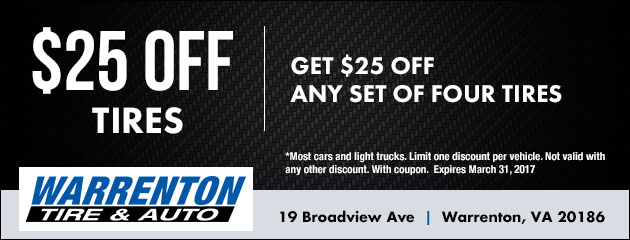 $25 Off Any Set Of Four Tires