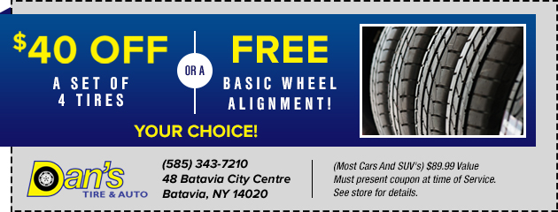 $40 Off a Set of 4 Tires
