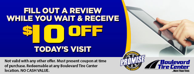 Fill out a review while you wait & receive $10 Off today's visit