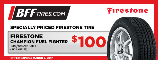 Firestone Champion Fuel Fighter - $100