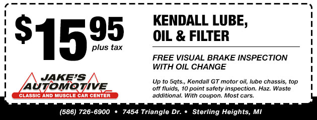 Free Visual Brake Inspection with Oil Change