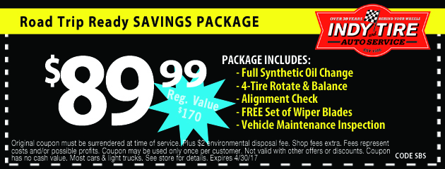 Road Trip Ready Savings Package
