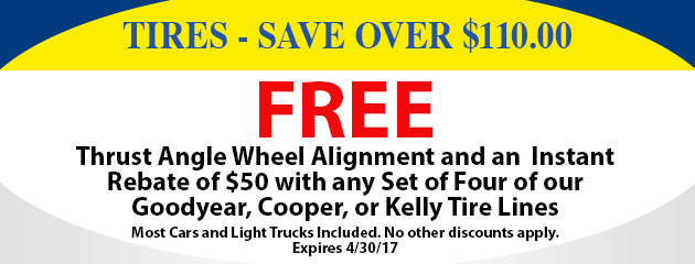 Tires - Save Over $110