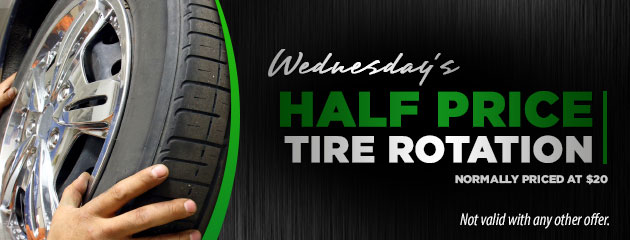 Wednesday's Half Price Tire Rotation