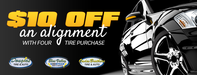 $10 Off Alignment with 4 tires
