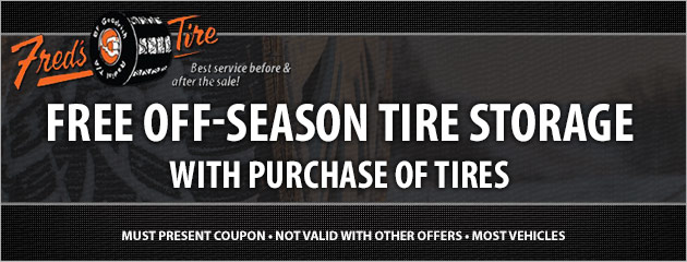 Winter tire packages on sale now! Free off-season tire storage