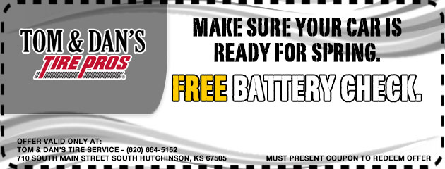 Make sure your car is ready for spring. Free battery check.