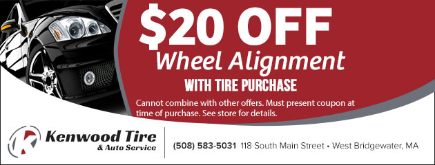 $20.00 Off Wheel Alignment