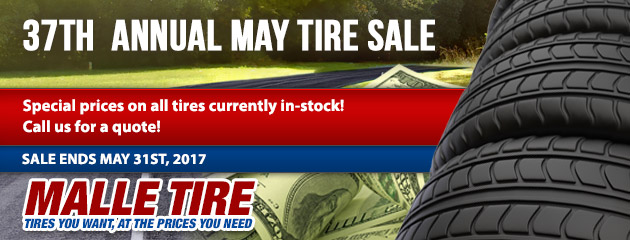 37th Annual May Tire Sale