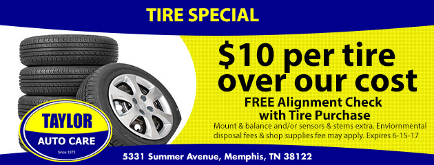 $10 per tire over our cost