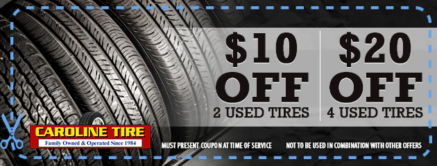 $10 off 2  | $20 off 4 used tires