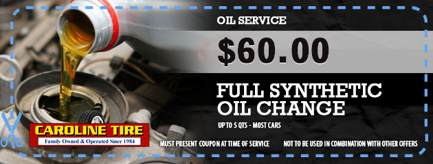 $60.00 Full Synthetic Oil Change