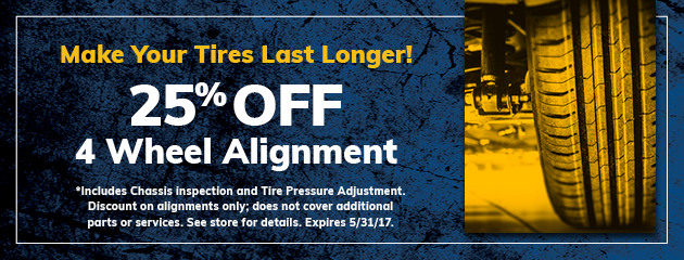 25% Off Wheel Alignment