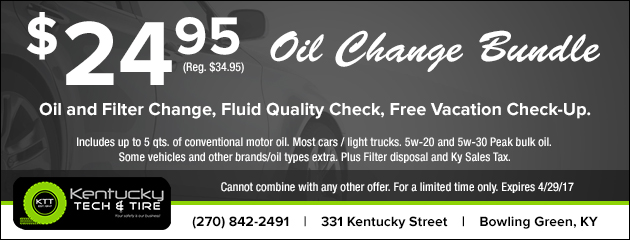 $24.95 Oil Change Bundle