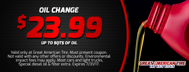 $23.99 Oil & Filter Change Package