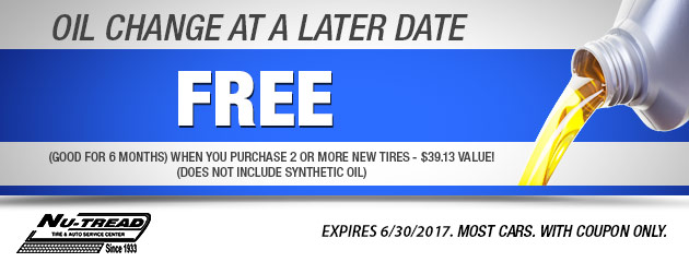 Free Oil Change at a later date