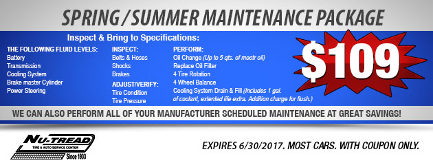 Spring/Summer Maintenance Package