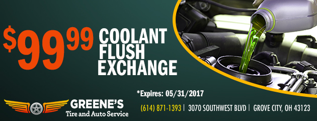 $99.99 Coolant Flush Exchange