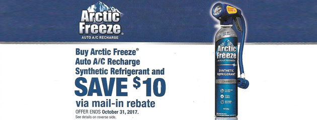 Save $10 On Arctic Freeze