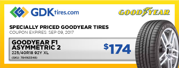 Goodyear Eagle F1 Asymmetric 2  - $174