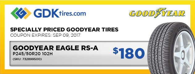 Goodyear Eagle RS-A $180