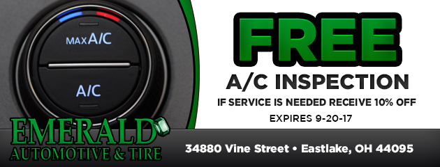 Free A/C inspection. If service is needed receive 10% OFF