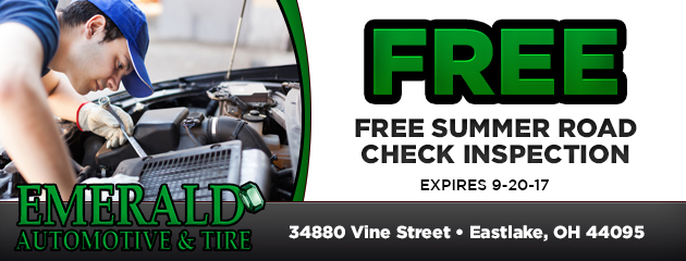 Free Summer Road Check Inspection