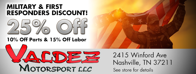 Military & First Responders Discount!