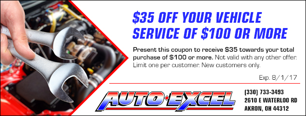 $35 Off Your Vehicle Service of $100 or More