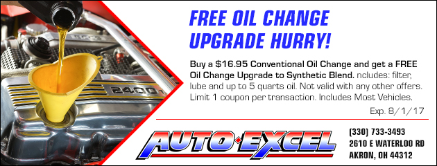Free Oil Change Upgrade HURRY!