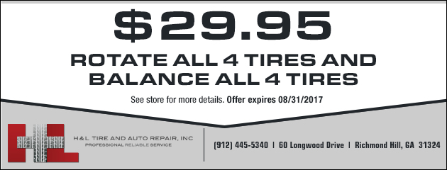 $29.95 Rotate and Balance on All 4 Tires
