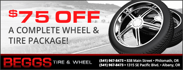 $75.00 Off a Complete Wheel & Tire Package