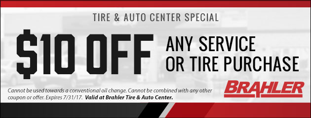 $10 Off Any Service or Tire Purchase