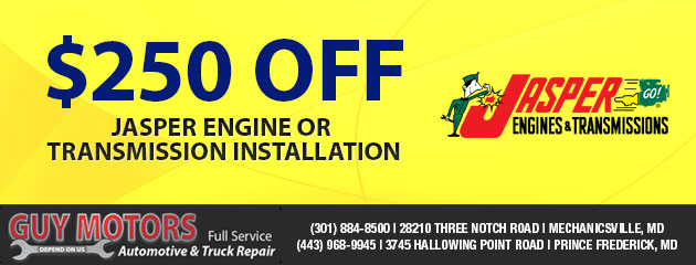 $250 Off Jasper Engine or Transmission Installation