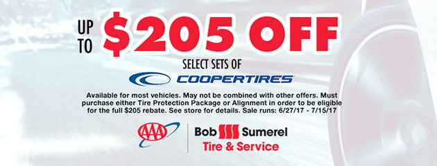 $250 Off Select Cooper Tires