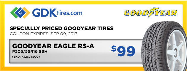 Goodyear Eagle RS-A - $99
