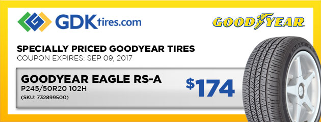 Goodyear Eagle RS-A $174
