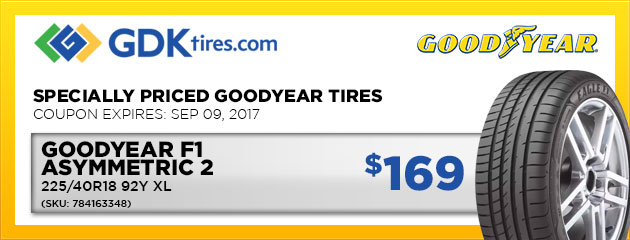 Goodyear Eagle F1 Asymmetric 2  - $169