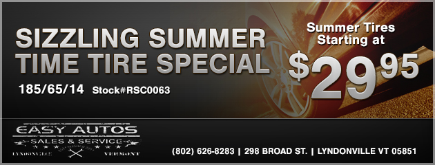SIZZLING SUMMER TIME TIRE SPECIAL