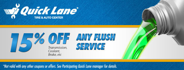 15% Off Any Fluid Flush